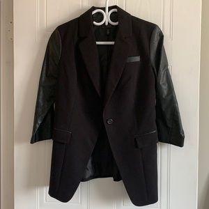 Jessica Simpson leather blazer. Size 7/8